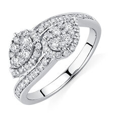 By My Side Ring with 0.59 Carat TW of Diamonds in 10ct White Gold
