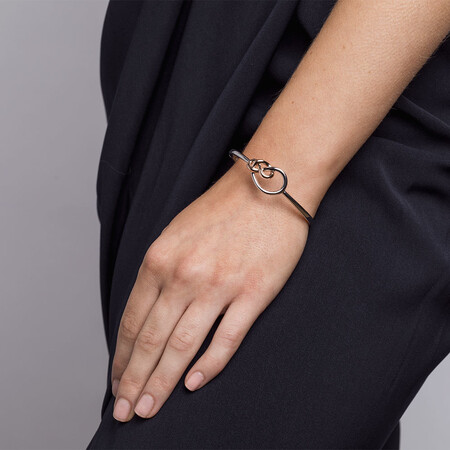 Knots Bangle in Sterling Silver & 10ct Rose Gold