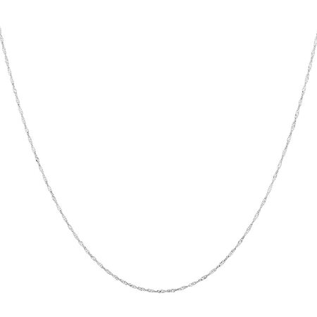 "50cm (20"") Singapore Chain in 14ct White Gold"