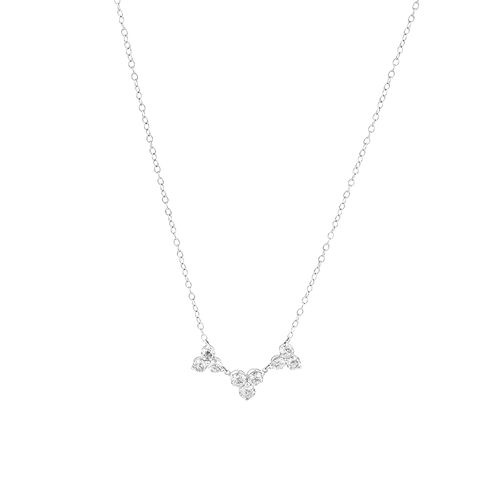 Laboratory-Created 0.75 Carat TW Diamond Necklace in 10ct White Gold