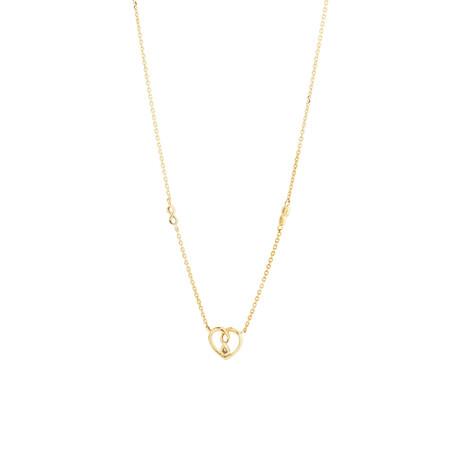 Mini Infinitas Pendant with Diamonds in 10ct Yellow Gold