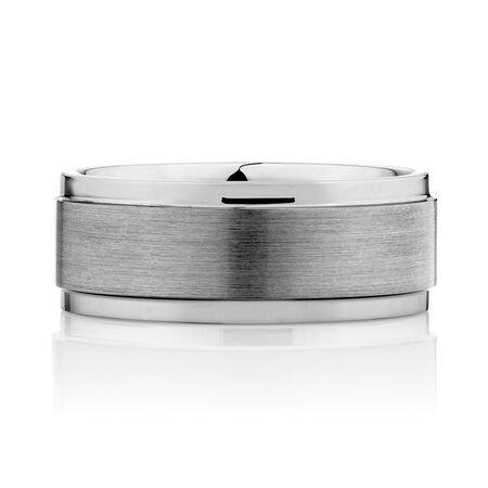 9mm Men's Ring in Grey Tungsten