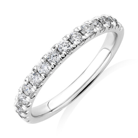 Wedding Band with 0.50 Carat TW of Diamonds in 18ct White Gold
