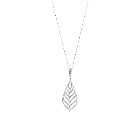 Teardrop Pendant with 1.25 Carat TW of Diamonds in 10ct White Gold