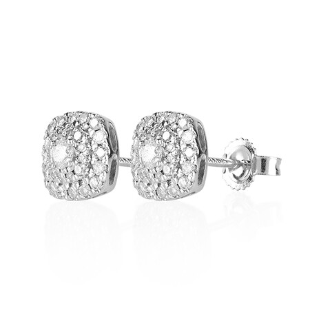 Online Exclusive - Stud Earrings with 0.40 Carat TW Of Diamonds in 10ct White Gold