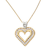Pendant with 1 Carat TW of Diamonds in 10ct Yellow & White Gold