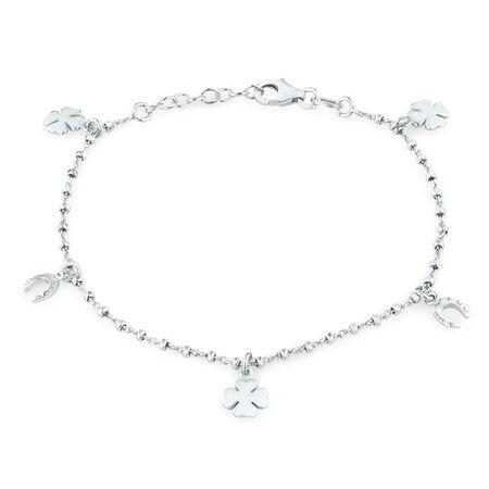 "17cm (7"") Charm Bracelet in Sterling Silver"