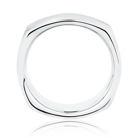 10mm Square Ring in Sterling Silver