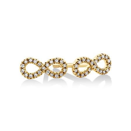 Mini Infinity Earrings with Diamonds in 10ct Yellow Gold
