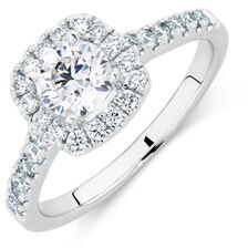 Online Exclusive - Engagement Ring with 1 1/5 Carat TW of Diamonds in 14ct White Gold