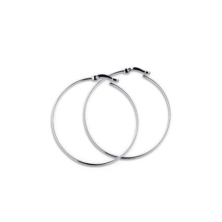 42mm Hoop Earrings in 10ct White Gold