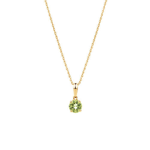 Pendant with Peridot in 10ct Yellow Gold