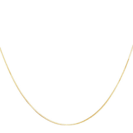 "40cm (16"") Box Chain in 10ct Yellow Gold"