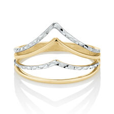Fancy Ring in 10ct Yellow & White Gold