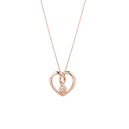 Medium Infinitas Pendant with Diamonds in 10ct Rose Gold