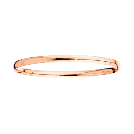 Oval Bangle in 10ct Rose Gold
