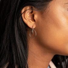 Double Pear Earrings in Sterling Silver
