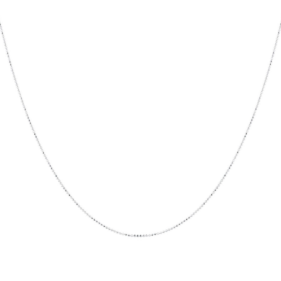 """40cm (16"""") Ball Chain in Sterling Silver"""