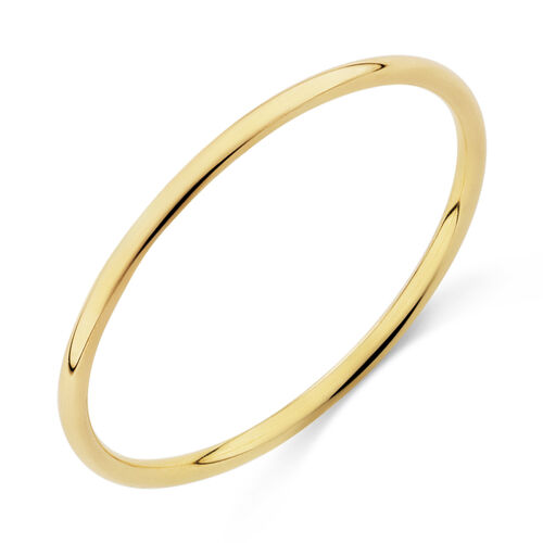 Plain Band Ring in 10ct Yellow Gold