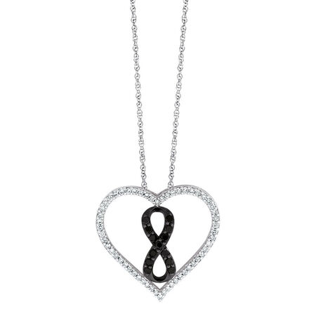 Online Exclusive - Inifinitas Pendant with 1/3 Carat TW of Enhanced Black Diamonds in Sterling Silver