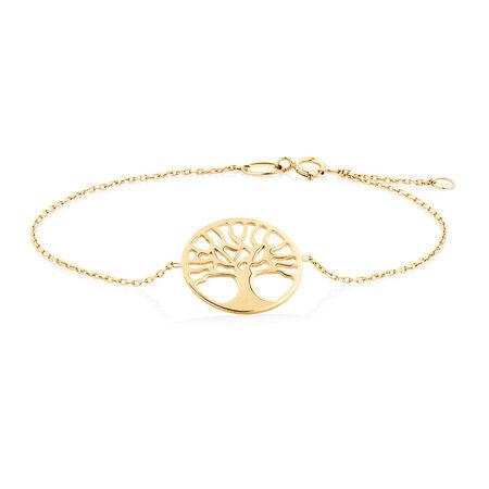 "19cm (7.5"") Tree of Life Bracelet in 10ct Yellow Gold"