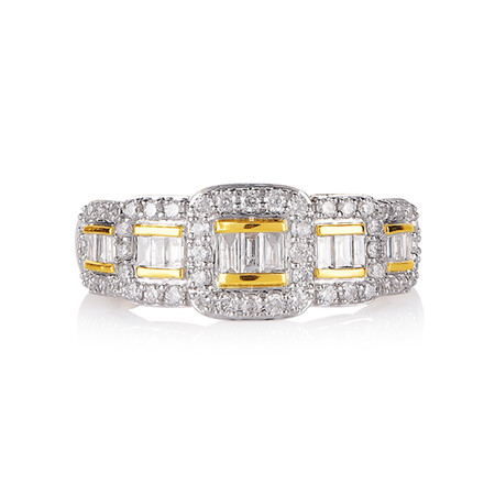 Online Exclusive - Ring With 0.60 Carat TW Of Diamonds In 10ct Yellow Gold