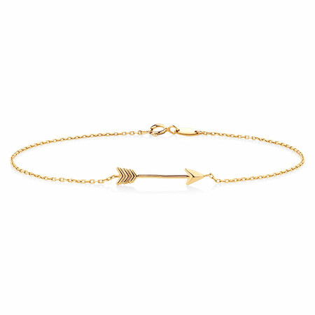 Arrow Bracelet in 10ct Yellow Gold