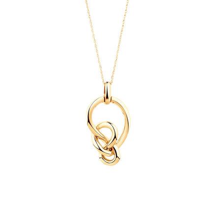 Medium Knots Pendant in 10ct Yellow Gold