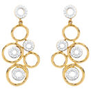 Online Exclusive - Drop Earrings with 0.30 Carat TW of Diamonds in 10ct Yellow Gold