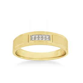 Ring with Diamonds in 10ct Yellow and White Gold