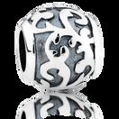 Sterling Silver Oxidised Filigree Charm