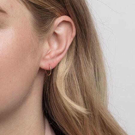 12mm Sleeper Earrings in 10ct Yellow Gold