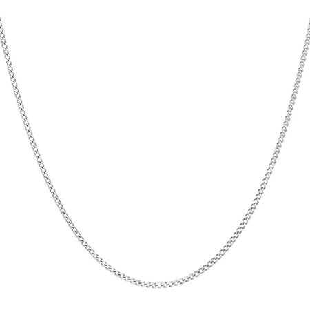 "40cm (16"") Curb Chain in 10ct White Gold"