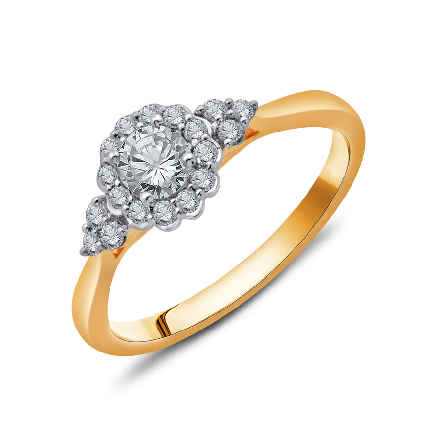 Ring with 1/2 Carat TW of Diamonds in 10ct Yellow & White Gold