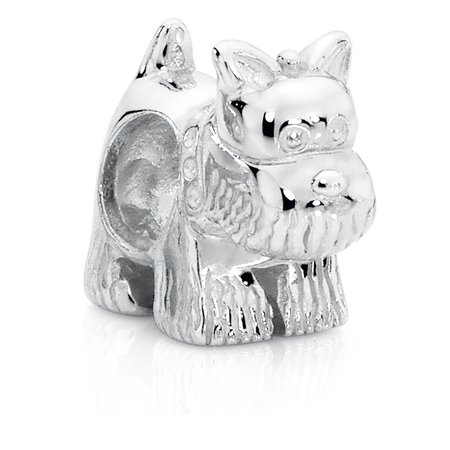 Sterling Silver Scotty Dog Charm
