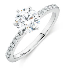 Online Exclusive - Engagement Ring with 1.12 Carat TW of Diamonds in 14ct White Gold