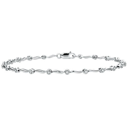 Tennis Bracelet with Diamonds in 10ct White Gold