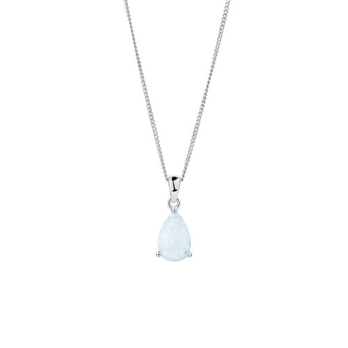Pendant with Created Opal in Sterling Silver