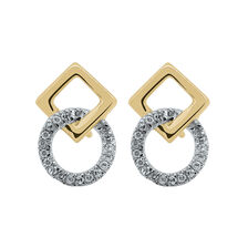 Diamond Stud Earrings in 10ct Yellow Gold