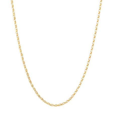 "50cm (20"") Diamond Cut Belcher Chain in 18ct Yellow Gold"