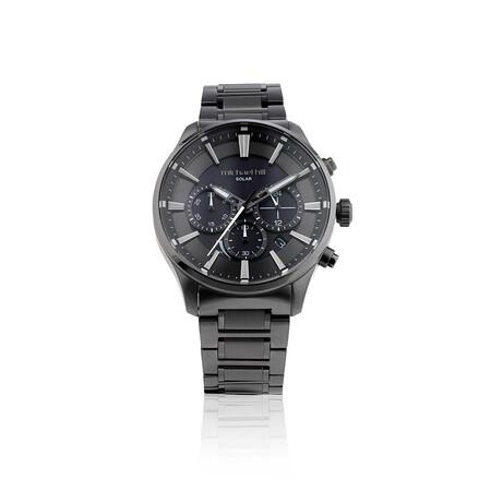 Solar Powered Men's Watch Black Tone Stainless Steel