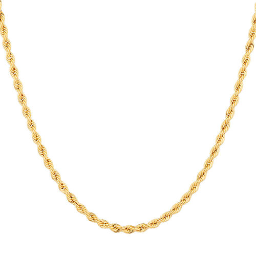 "45cm (18"") Hollow Rope Chain in 10ct Yellow Gold"