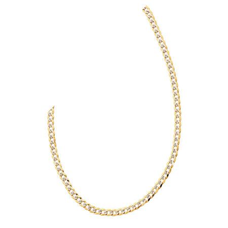 "45cm (18"") Curb Chain in 10ct Yellow & White Gold"