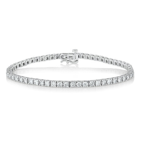 Tennis Bracelet with 4 Carat TW of Diamonds in 10ct White Gold