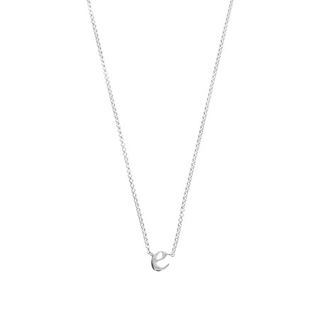 E Initial Pendant in Sterling Silver