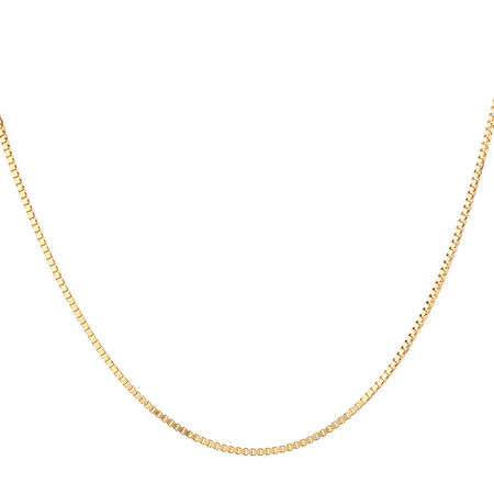 "55cm (22"") Box Chain in 10ct Yellow Gold"