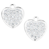 White Cubic Zirconia Heart Earring Drops