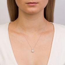 Michael Hill Designer Allegro Pendant with 1/2 Carat TW of Diamonds in 14ct White & Rose Gold
