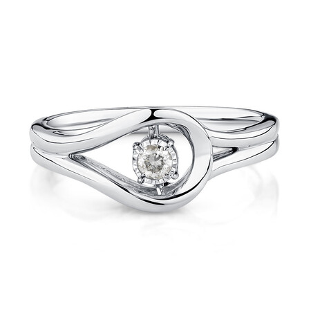 Everlight Ring with Diamonds in Sterling Silver
