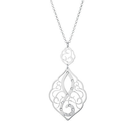 Pendant with Crystals in Sterling Silver